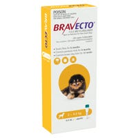 Bravecto Dog Flea And Tick Spot On Extra Small 2-4.5kg - 1pk