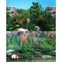 Aqua One Background Stone and Plant - 90cm