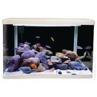 Aqua One LifeStyle Aquarium 80cm White Fish Tank - 127L