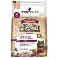Ivory Coat Adult Cat Grain Free Chicken and Kangaroo Indoor Dry Cat Food - 6kg