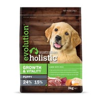 Evolution Australian Holistic Growth and Vitality Puppy Lamb and Rice Dry Dog Food - 3kg
