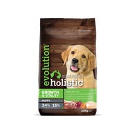 Evolution Australian Holistic Growth and Vitality Puppy Lamb and Rice Dry Dog Food - 15kg