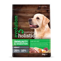 Evolution Australian Holistic Adult Immunity and Digestion Lamb and Rice Dry Dog Food - 3kg