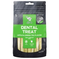 Billy & Margot Apple and Green Tea Dental Sticks for Large/Giant Breeds Dog Treats - 5pk