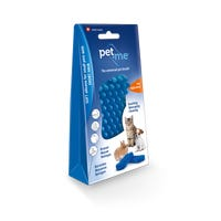 Pet + Me Soft Silicone for Short Hair Pet Brush - Blue