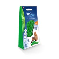 Pet + Me Soft Silicone for Long Hair Pet Brush - Green