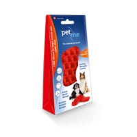 Pet + Me Firm Silicone for Long Hair Pet Brush - Red