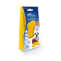 Pet + Me Medium Silicone for Short or Silky Hair Pet Brush - Yellow