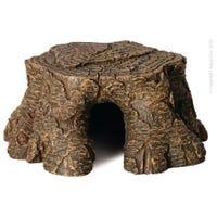 Reptile One Hermit Crab Tree Stump Ledge Ornament- Each