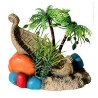 Reptile One Hermit Crab Ship Wreck wit Tree Ornament - Each