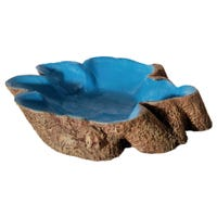 Reptile One Hermit Crab Stump Bowl Blue - Large