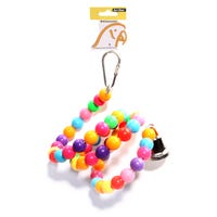 Avi One Beads Twister Bell Bird Toy - 72cm
