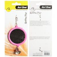 Avi One Round Mirror with Bell Bird Toy - Each