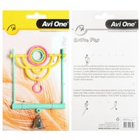 Avi One 2 In 1 Swing with Rings Bird Toy - 20cm