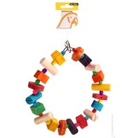 Avi One Wooden Ring with Beads Bird Toy - Each