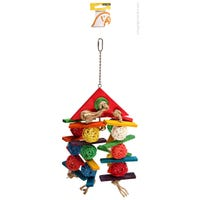 Avi One Wicker Balls with Triangle Bird Toy - Each