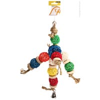 Avi One Wicker Balls with Rings Bird Toy - Each