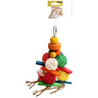 Avi One Wicker Balls with Wood Bird Toy - Each