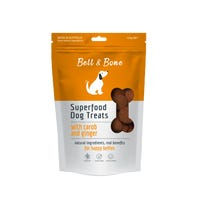 Bell & Bone Carob and Ginger Superfood Dog Treats - 150g