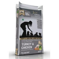 Meals For Mutts Puppy Turkey and Chicken Large Kibble Dry Dog Food - 20kg