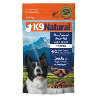 K9 Naturals Freeze Dried Beef Feast Dry Dog Food - 142g