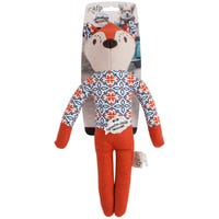 All For Paws Dog Toy Vintage Jacket Fox Dog Toy - Each
