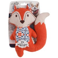 All For Paws Dog Toy Vintage Mini Cute Fox Dog Toy - Each