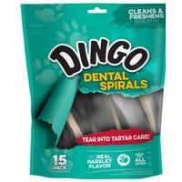 Dingo Dental Spirals Dog Treats - 15pk