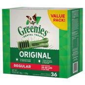 Greenies Original Regular Dental Dog Treats Value Pack 1kg - 36pk