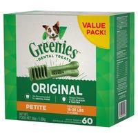 Greenies Original Petite Dental Dog Treats Value Pack 1kg - 60pk