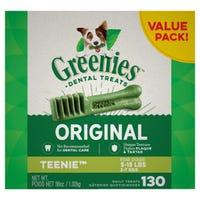 Greenies Original Teenie Dental Dog Treats Value Pack 1kg - 130pk