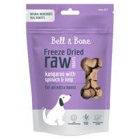Bell & Bone Freeze Dried Raw Kangaroo with Spinach and Kelp Dog Treats - 150g