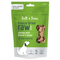 Bell & Bone Freeze Dried Raw Chicken with Broccoli and Ginger Dog Treats - 150g