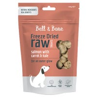 Bell & Bone Freeze Dried Raw Salmon with Carrot and Kale Dog Treats - 150g