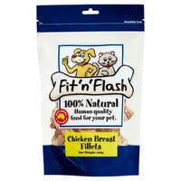 Fit'N'Flash Chicken Breast Fillets Dog Treats - 100g
