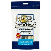 Fit'N'Flash Fish Fillets Dog Treats - 50g