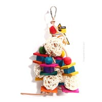 Avi One Bird Wood Block Bird Toy - 35cm