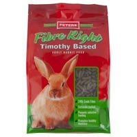 Peters Fibre Right Pellets Rabbit Food - 1kg