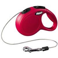 Flexi Classic Cord Red Retractable Dog Lead XSmall - 5m