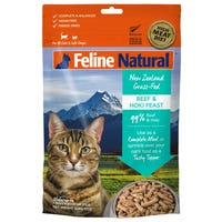 Feline Naturals Freeze Dried Beef and Hoki Feast Dry Cat Food - 320g