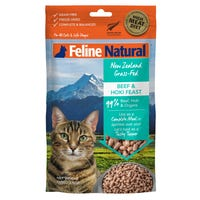 Feline Naturals Freeze Dried Beef and Hoki Feast Dry Cat Food - 100g