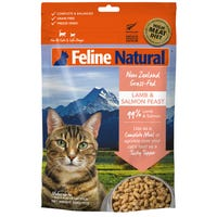 Feline Naturals Freeze Dried Lamb and Salmon Feast Dry Cat Food - 320g