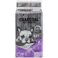 Absorb Plus Charcoal Pet Sheets Toilet Training Pads  - 100pk