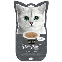 Kit Cat Purr Puree Plus Joint Care Tuna and Glucosamine Cat Treat 15g - 4pk