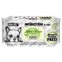 Absorb Anti Bacterial Wipes Aloe Vera Scented Pet Wipes - 80pk