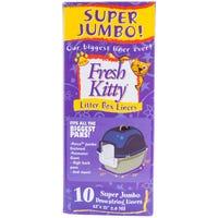 Fresh Kitty Litter Box Liners Bags Super Jumbo - 10pk