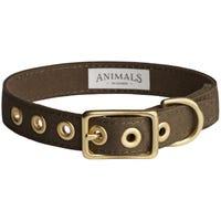 Animals In Charge Collar Olive Dog Collar - Medium