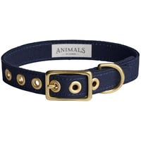 Animals In Charge Collar Navy Dog Collar - Large