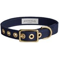 Animals In Charge Collar Navy Dog Collar - Medium