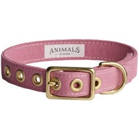 Animals In Charge Collar Dark Pink Dog Collar - Small